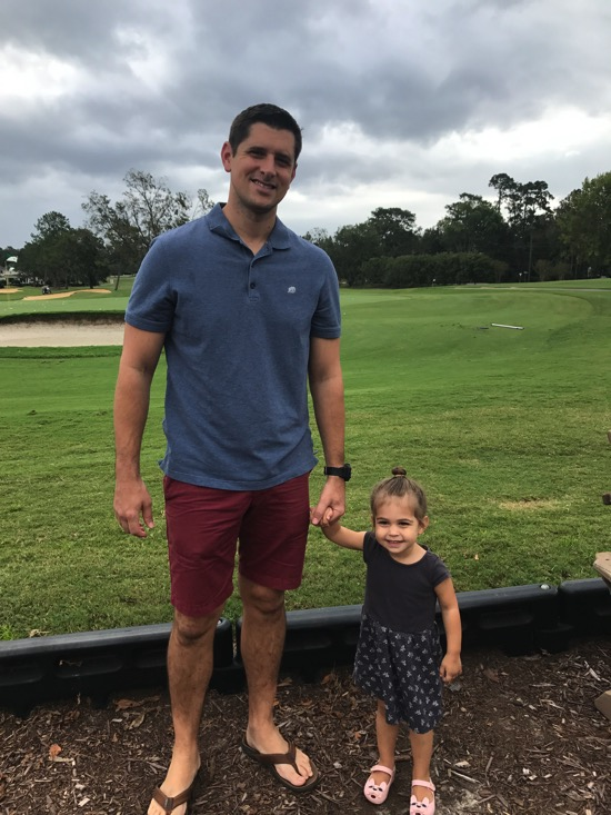 Tom and P at the country club