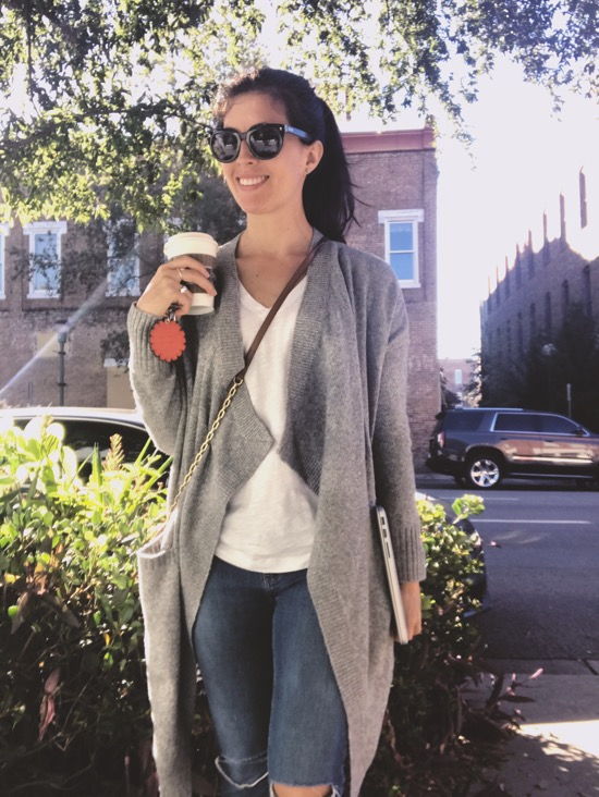 coffee and cardigan