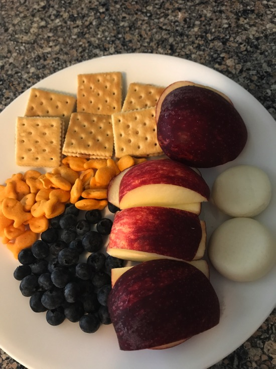 Kids cheese plate