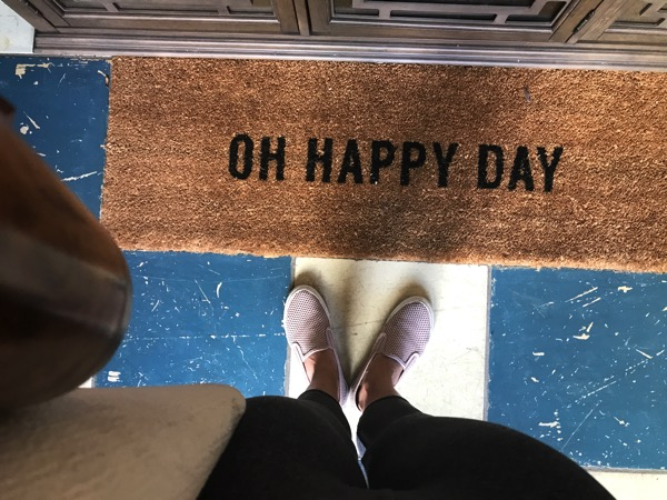 Oh happy day welcome mat