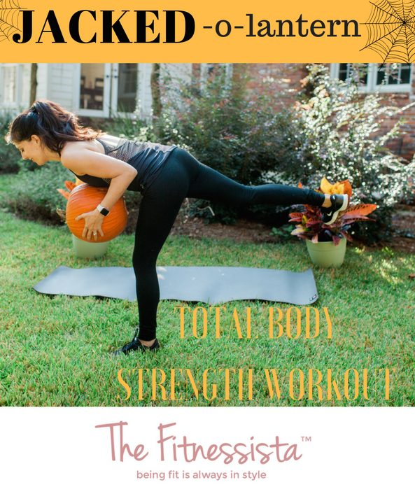 Jacked-o-lantern total body strength pumpkin workout! fitnessista.com