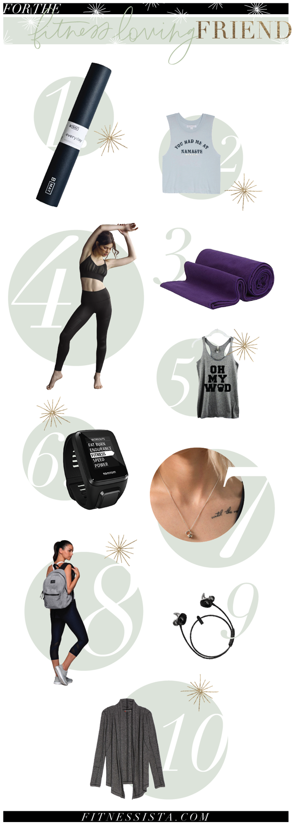 Fitness gift ideas for 2017! Perfect for your favorite workout buddy or to share as a personal wish list. fitnessista.com
