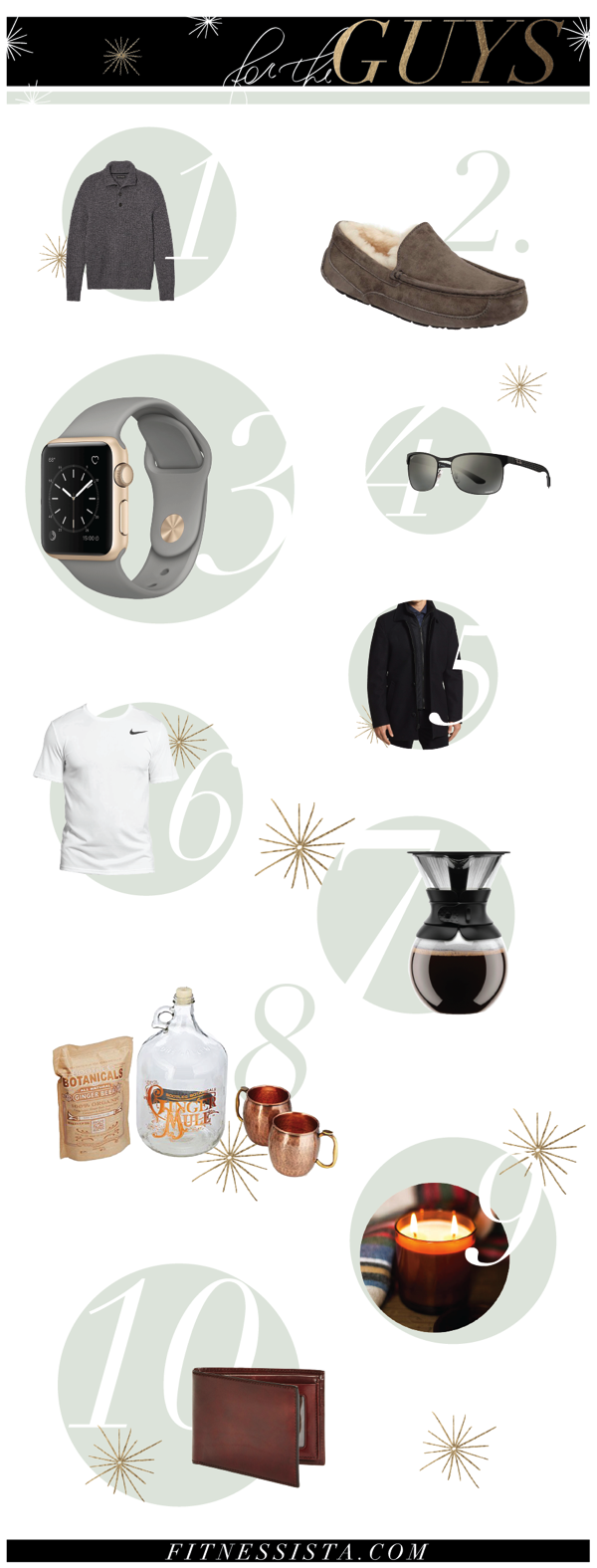 Fitnessista Gift Guide for the Guys - Here's a list of holiday gifts for men! The men in my life tend to be the hardest for me to shop for, so I scoured the internet for some ideas to share. fitnessista.com #giftguide #giftsformen #holidays #christmasshopping #holidaygiftguide