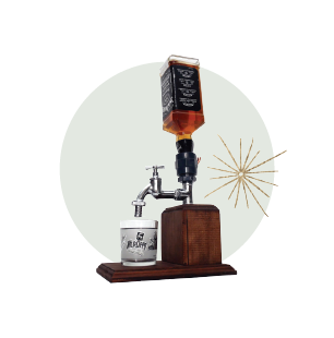 bourbon dispenser