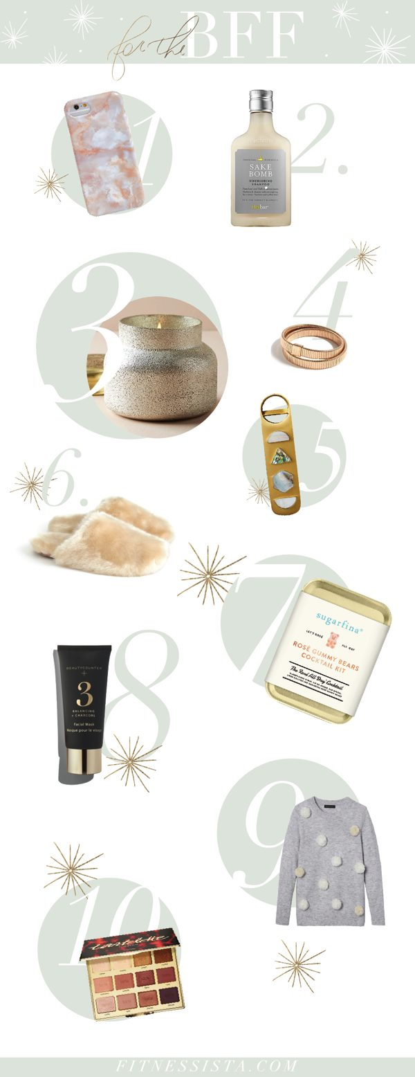 Fitnessista Gift Guide for your BFF... or yourself! Pin this list for your husband or partner ;)