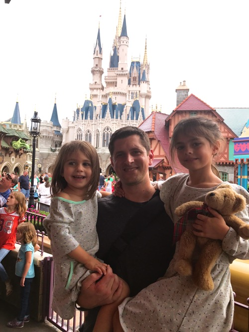 Tom and the girls at disney