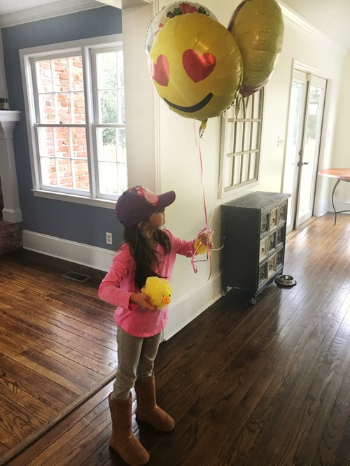 6-year-old birthday girl