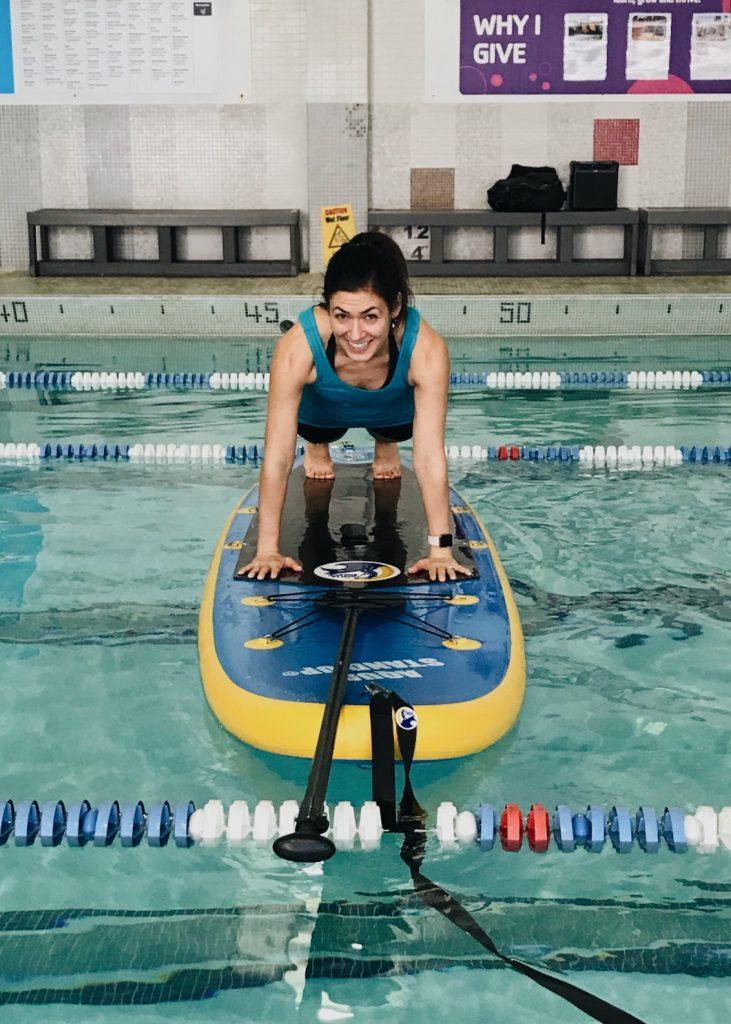 SUP Plank   fitnessista.com   #SUPfitness #SUP #paddleboardclass