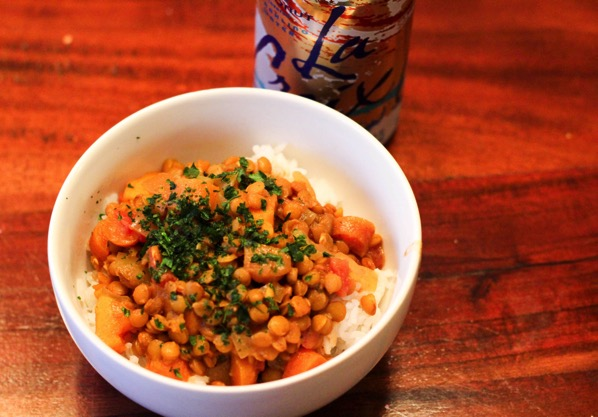 Coconut curry lentil
