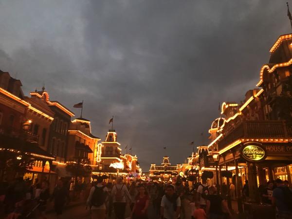 Disneyworld at night