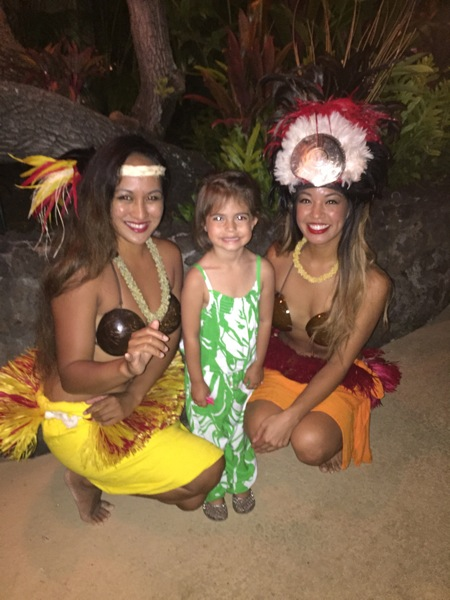 Livi and hula dancers