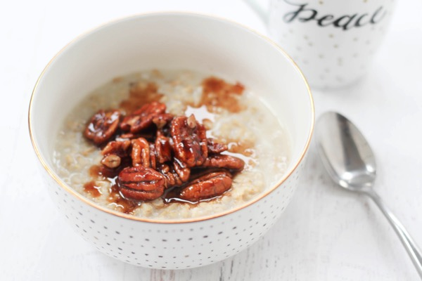 Pecan pie protein oatmeal
