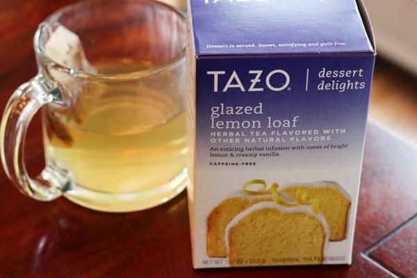 Tazo glazed lemon loaf