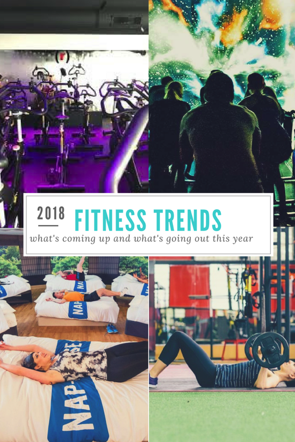 2018 Fitness Trends - What's Coming Up and What's Going Out This Year. fitnessista.com #fitnesstrends #2018fitness
