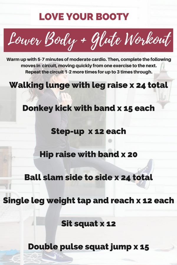Love your booty lower body workout - Here's an intense and sweaty glute workout that combines HIIT intervals with strength training moves to burn a lot of calories in a short amount of time, plus build some beautiful lean muscle. | fitnessista.com | #lowerbodyworkout #gluteworkout #buttworkout #booty