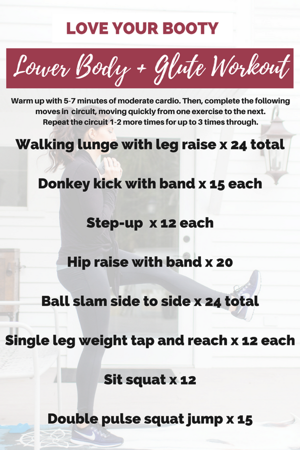Love your booty lower body workout - Here's an intense and sweaty glute workout that combines HIIT intervals with strength training moves to burn a lot of calories in a short amount of time, plus build some beautiful lean muscle.   fitnessista.com   #lowerbodyworkout #gluteworkout #buttworkout #booty