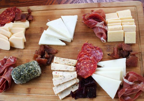 Cheese board prep