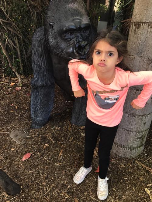 Liv's gorilla face