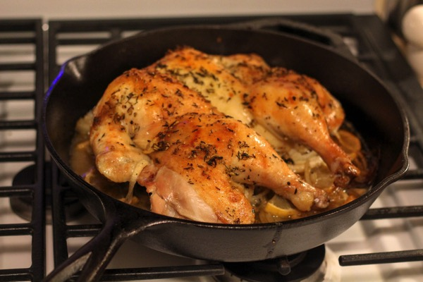 Lemon skillet chicken