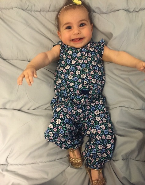 Miss p in her romper