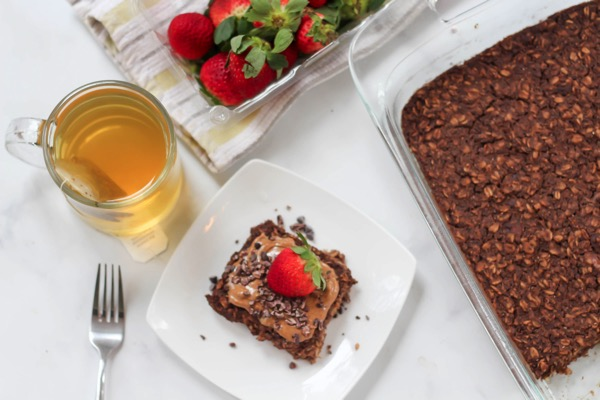Protein baked chocolate oatmeal