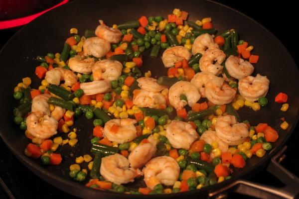Shrimp cooking