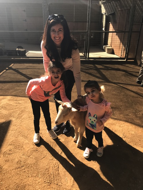 W the girls at the zoo