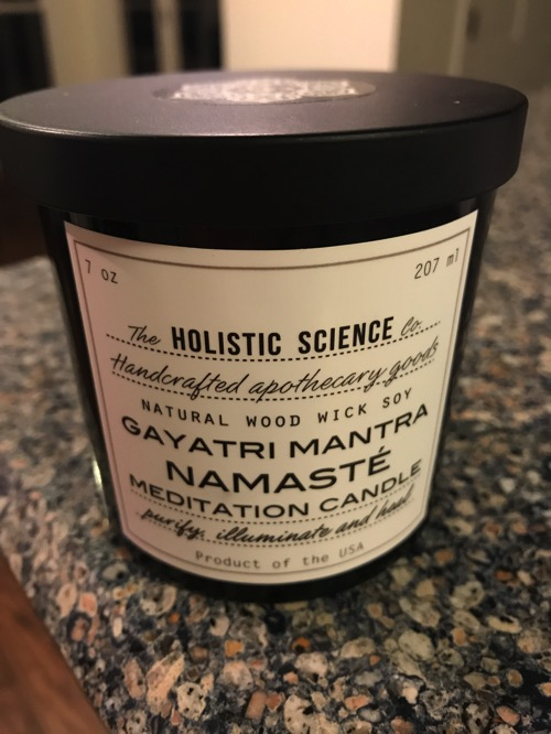 The Holistic Science Meditation Candle