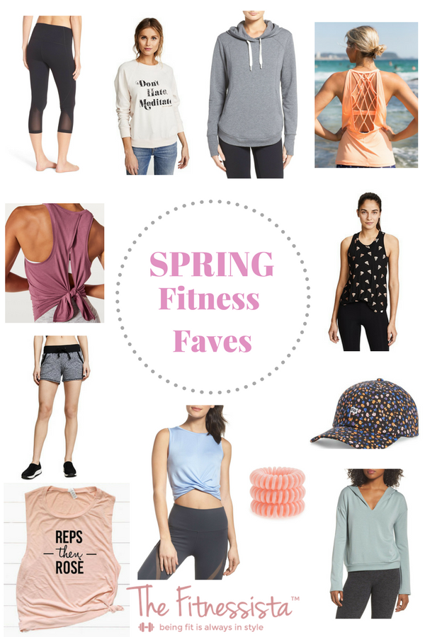 Spring fitness fashion faves - Update your fitness wardrobe with these fun pieces for spring! fitnessista.com | #fitnessfashion #springfashion #springfitness #workoutclothes