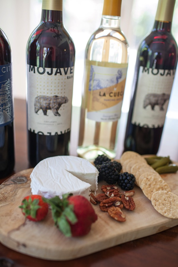 Bright cellars wine and cheeseboard