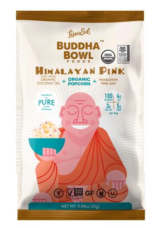 Himalayan pink Buddha Bowl popcorn