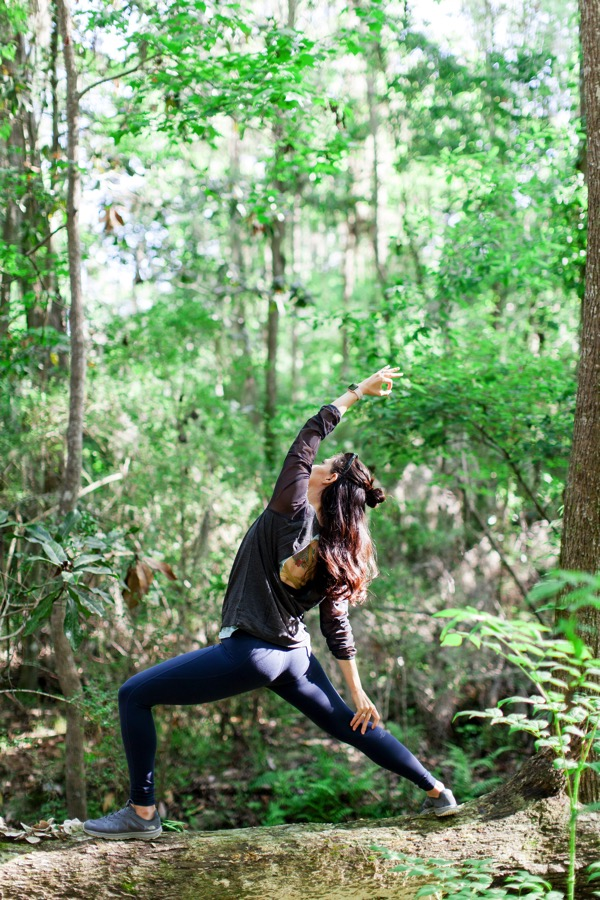 Yoga on a tree