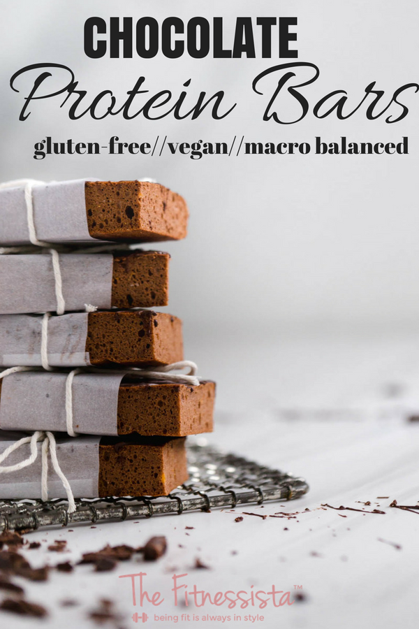 Chocolate protein bars with sweet potato