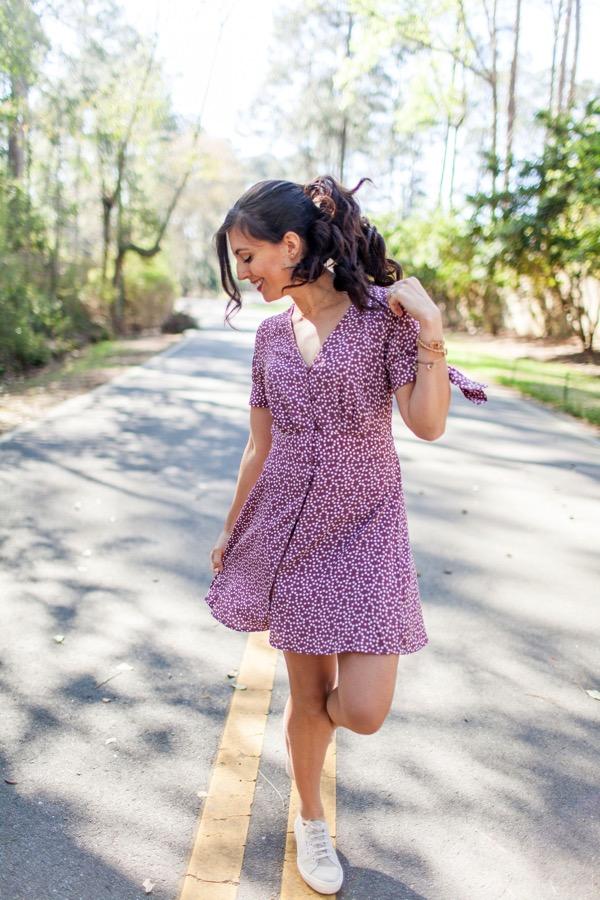 Express polka dot dress