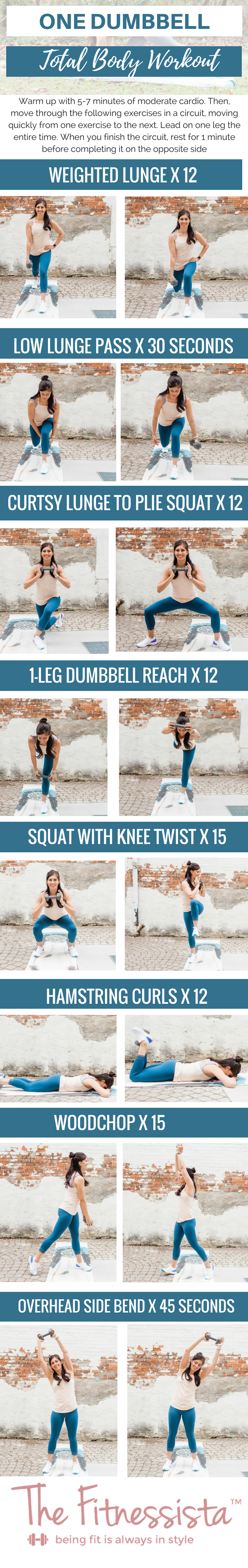 one dumbbell total body workout