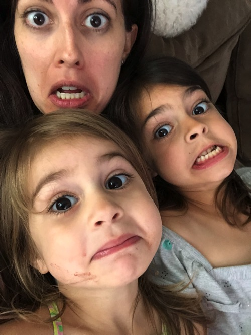 Silly faces with my loves