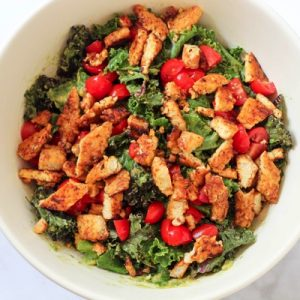 tempeh bacon salad with kale