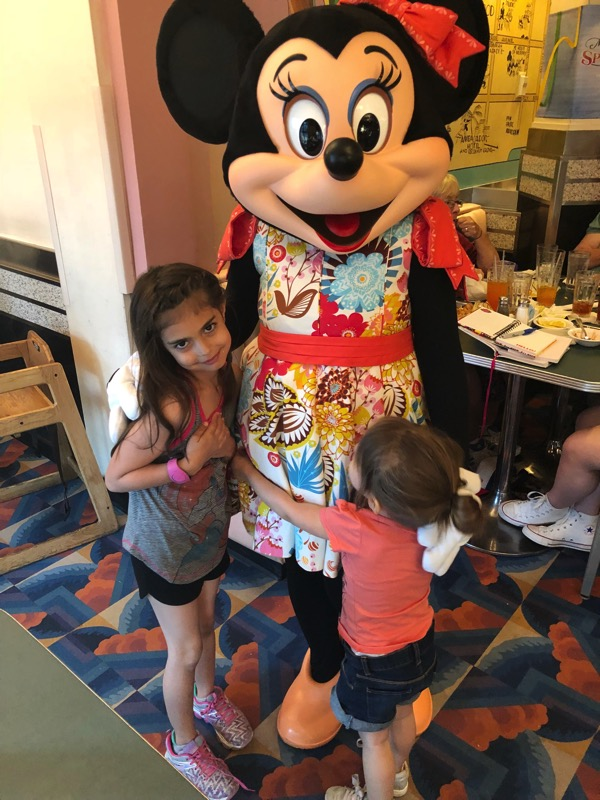 the girls with minnie