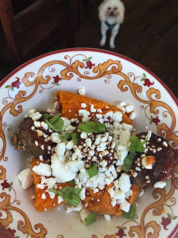 Meatballs with sweet potato