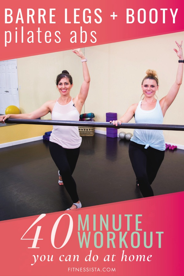 Full-length FREE barre workout you can do at home! This workout focuses on legs and booty, with a Pilates core segment (and Diastasis Recti modifications). Pin it for the next time you need a leg-shaker. fitnessista.comFull-length FREE barre workout you can do at home! This workout focuses on legs and booty, with a Pilates core segment (and Diastasis Recti modifications). Pin it for the next time you need a leg-shaker. fitnessista.com