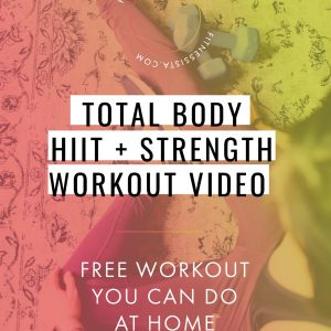 This is a full-length HIIT and strength workout you can do anywhere! Burn fat, build muscle, end in a puddle of sweat. fitnessista.com