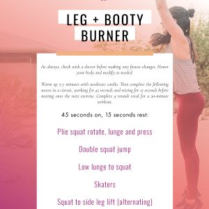 This is a lower body and booty burner workout you can do anywhere, plus a follow along video. Get in a killer leg workout at home or the gym in only 20 minutes! fitnessista.com
