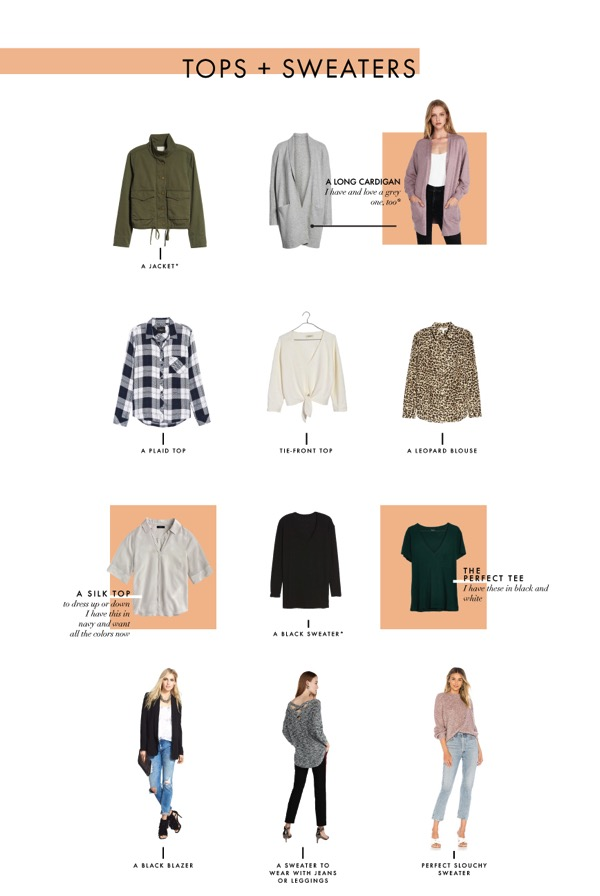Tops and sweaters