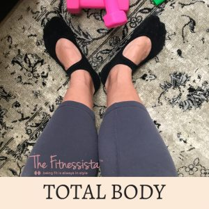 This is a total body barre workout video you can do anywhere! All you need is a pair of light dumbbells to get in an awesome burn. fitnessista.com
