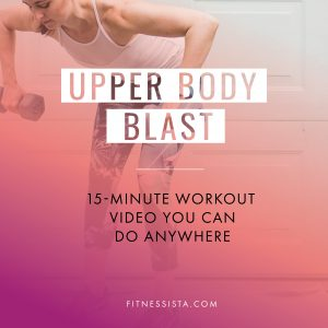 This is 15-minute upper body workout that you can do at home or the gym with only a pair of dumbbells. Follow prenatal and low impact modifications in the video! fitnessista.com