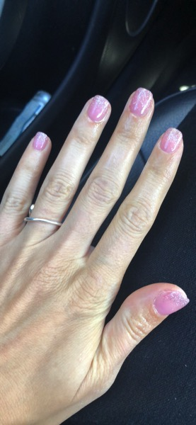 Dip powder nails glitter tips