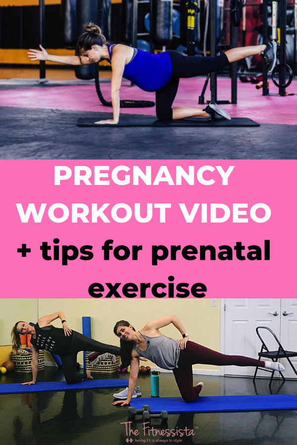 PREGNANCY WORKOUT VIDEO + tips for prenatal exercise