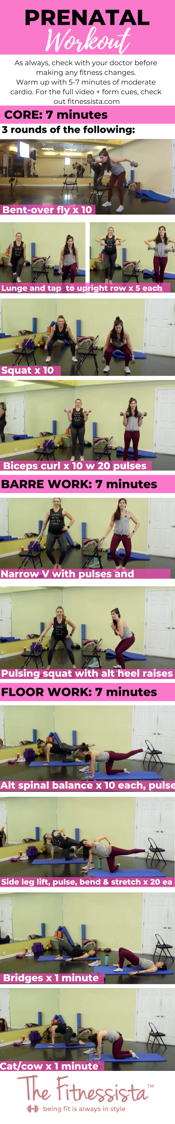 Prenatal workout with safe pregnancy exercises