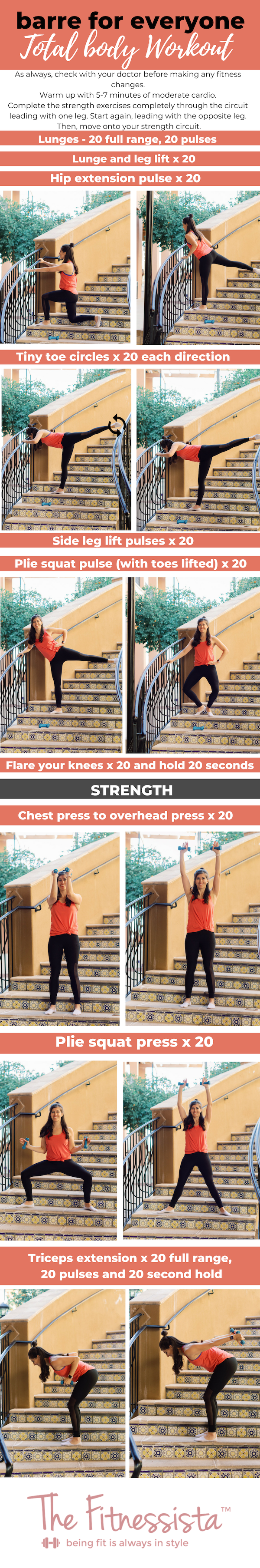 Barre for everyone total body strength workout