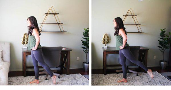 Leg raise with hip extension